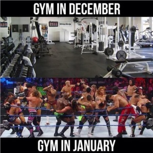 gym december and january